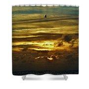 Hatteras Island Sunrise 3 9/10 Shower Curtain