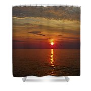 Hatteras Island Sunrise 8/18 Shower Curtain