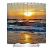 Hatteras Island Sunrise 9 8/28 Shower Curtain