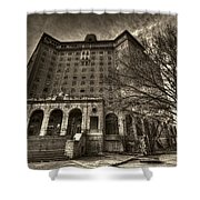 Haunted Baker Hotel Shower Curtain