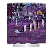 Haunted Cemetery Shower Curtain