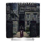 Haunted House Shower Curtain by Joana Kruse
