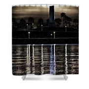 Haunted Lighthouse Shower Curtain