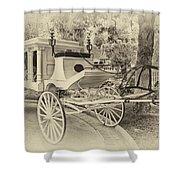 Haunted Mansion Hearse New Orleans Disneyland Heirloom Shower Curtain