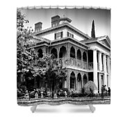 Haunted Mansion New Orleans Disneyland Bw Shower Curtain