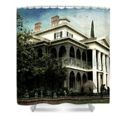 Haunted Mansion New Orleans Disneyland Textured Sky Shower Curtain
