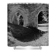 Haunted Mortemer Abbey Shower Curtain