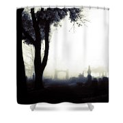 Haunting On All Hallow's Eve Shower Curtain