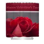 Hau'oli Ka La Aloha Kakou - Happy Valentine's Day Shower Curtain