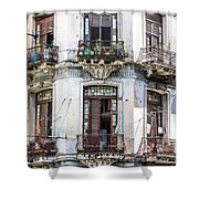 Havana Balconies Shower Curtain