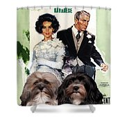 Havanese Art - Father Of The Bride Movie Poster Shower Curtain