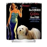 Havanese Art - Gilda Movie Poster Shower Curtain