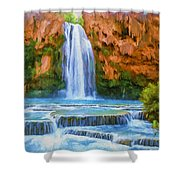 Havasu Falls Shower Curtain