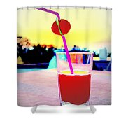 Have A Drink With Me Or Just Go Away And Never Come Back  Shower Curtain