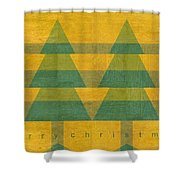 Have A Rustic Christmas Shower Curtain