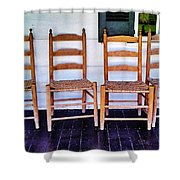 Have A Seat. Shower Curtain