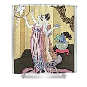 Have You Had A Good Dinner Jacquot? Shower Curtain by Georges Barbier