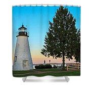 Concord Point Light ... Havre De Grace Md Shower Curtain