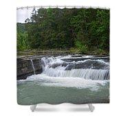 Haw Creek Falls Shower Curtain