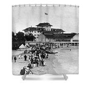 Hawaii Beach, 1914 Shower Curtain