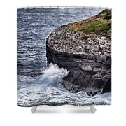 Hawaii Big Island Coastline Shower Curtain