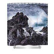Hawaii Big Island Coastline V4 Shower Curtain