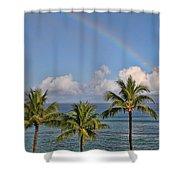 Hawaii Rainbow Shower Curtain