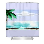Hawaii Waves Shower Curtain