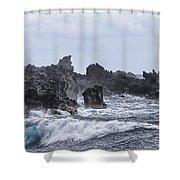 Hawaii Waves V1 Shower Curtain