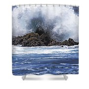 Hawaii Waves V3 Shower Curtain
