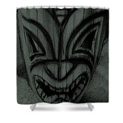 Hawaiian Charcoal Mask Shower Curtain