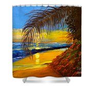 Hawaiian Coastal Sunset Shower Curtain