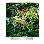 Hawaiian Cultural Garden Honolulu Airport Shower Curtain