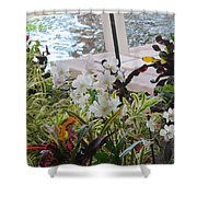 Hawaiian Garden Shower Curtain