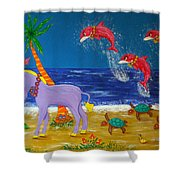 Hawaiian Lei Parade Shower Curtain