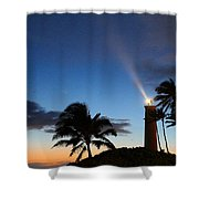 Hawaiian Lighthouse Shower Curtain