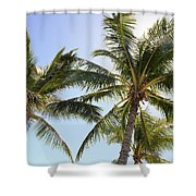 Hawaiian Palm Trees Shower Curtain