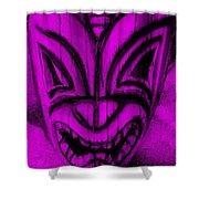 Hawaiian Purple Mask Shower Curtain