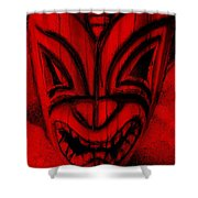 Hawaiian Red Mask Shower Curtain