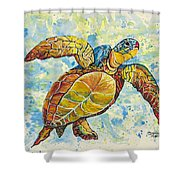 Hawaiian Sea Turtle 2 Shower Curtain