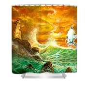 Hawaiian Spirit Seascape Shower Curtain