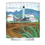 Hawaiian Sugar Mill Shower Curtain