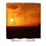 Hawaiian Sunset Shower Curtain