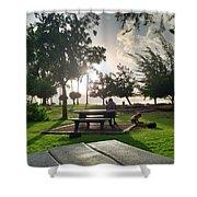 Hawaiian Landscape 9 Shower Curtain