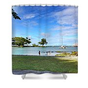 Hawaiian Landscape 6 Shower Curtain