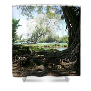 Hawaiian Landscape 3 Shower Curtain