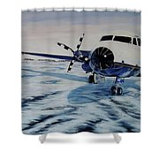 Hawker - Airplane On Ice Shower Curtain