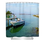 Hawks Nest Marina Shower Curtain