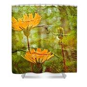 Hawkweed Wildflower Shower Curtain