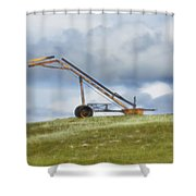 Hay Bale Loader Shower Curtain